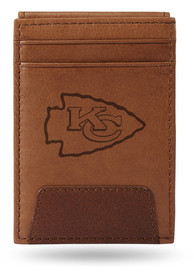 Kansas City Chiefs Front Pocket Bifold Wallet - Brown