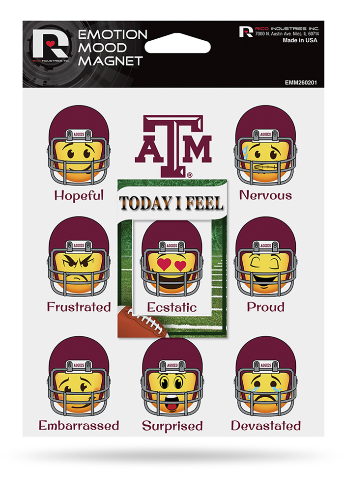 Texas A&M Aggies Emotion Mood Magnet - Image 1