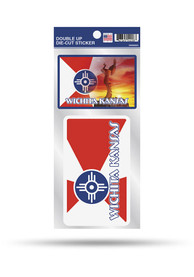 Wichita City Flag 2Pack Auto Decal - Red