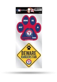 Texas Rangers 2-Piece Pet Themed Auto Decal - Blue