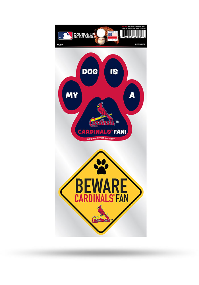 St Louis Cardinals 2-Piece Pet Themed Auto Decal - Red - Image 1