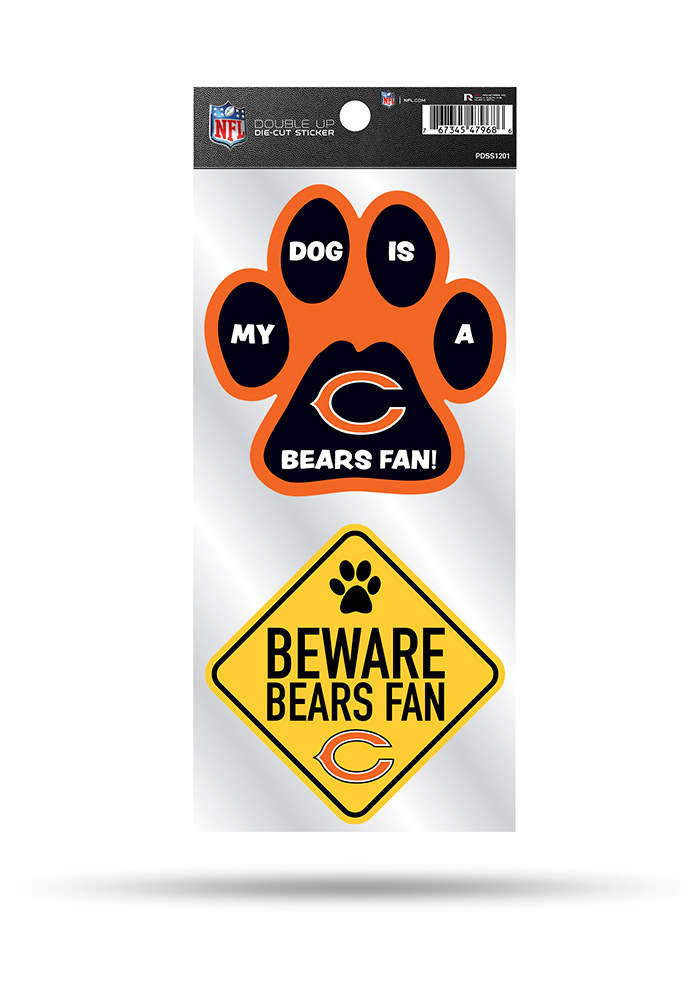 Chicago Bears 2-Piece Pet Themed Auto Decal - Navy Blue - Image 1