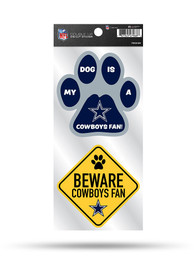 Dallas Cowboys 2-Piece Pet Themed Auto Decal - Navy Blue