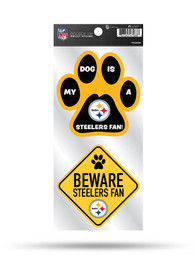 Pittsburgh Steelers 2-Piece Pet Themed Auto Decal - Black