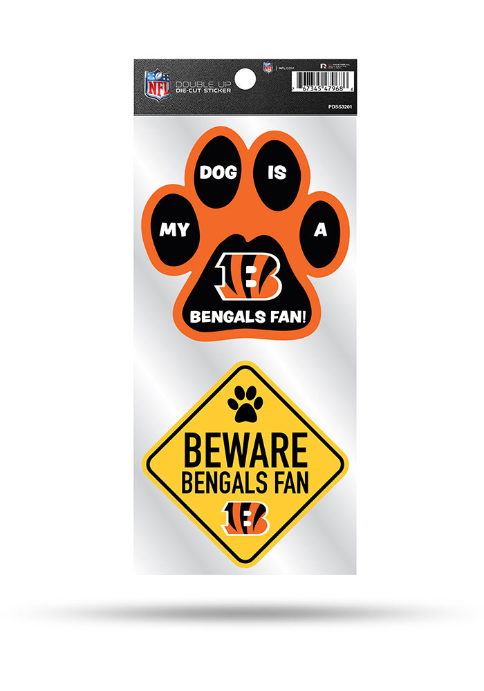 Cincinnati Bengals 2-Piece Pet Themed Auto Decal - Orange