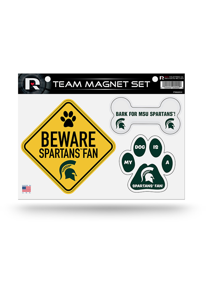 Michigan State Spartans 3-Piece Pet Themed Pet Magnet