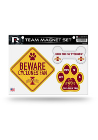 Iowa State Cyclones 3-Piece Pet Themed Pet Magnet