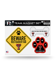 Texas Tech Red Raiders 3-Piece Pet Themed Pet Magnet