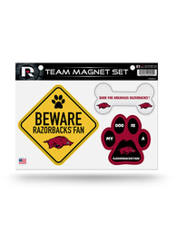 Arkansas Razorbacks 3-Piece Pet Themed Pet Magnet