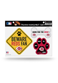 Cincinnati Reds 3-Piece Pet Themed Pet Magnet