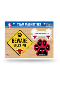 Chicago Bulls 3-Piece Pet Themed Pet Magnet