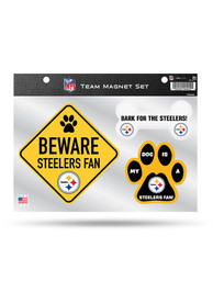 Pittsburgh Steelers 3-Piece Pet Themed Pet Magnet