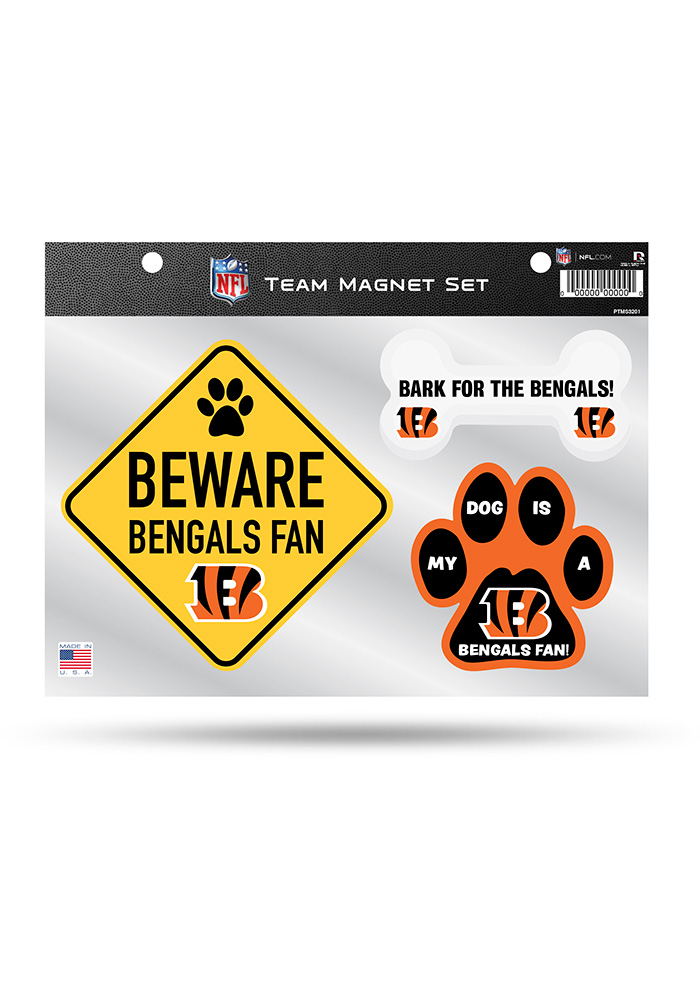 Cincinnati Bengals 3-Piece Pet Themed Pet Magnet