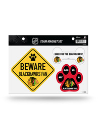 Chicago Blackhawks 3-Piece Pet Themed Pet Magnet
