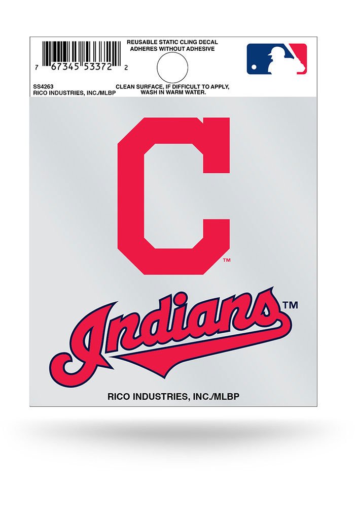 Cleveland Indians Small Auto Static Cling - Image 1