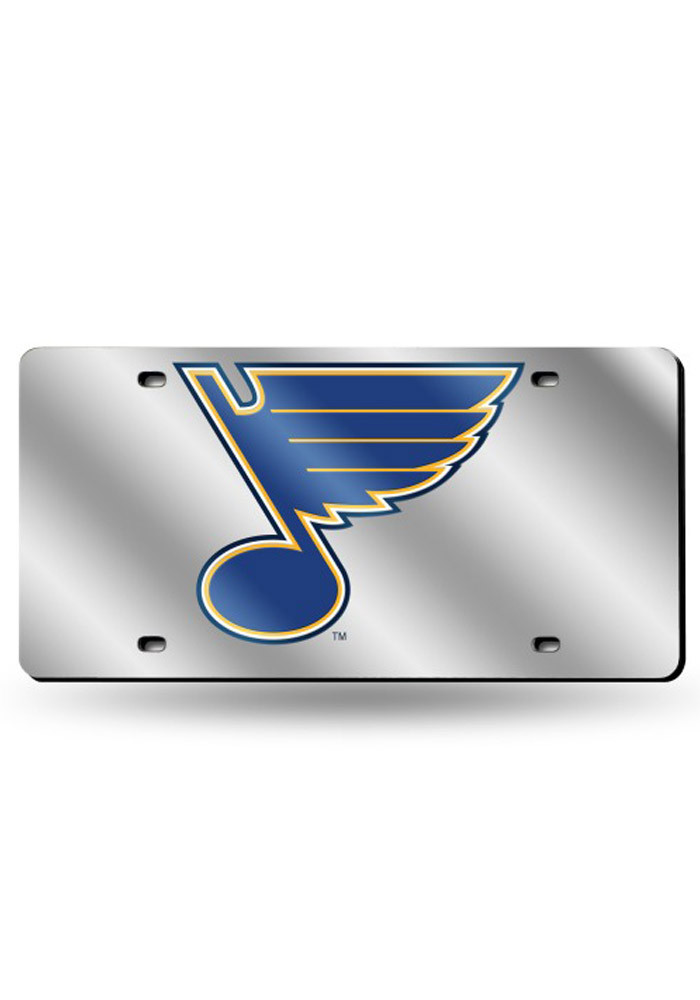 St Louis Blues Silver Laser Logo Car Accessory License Plate - Image 1