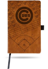 Chicago Cubs Laser Engraved Small Notepad