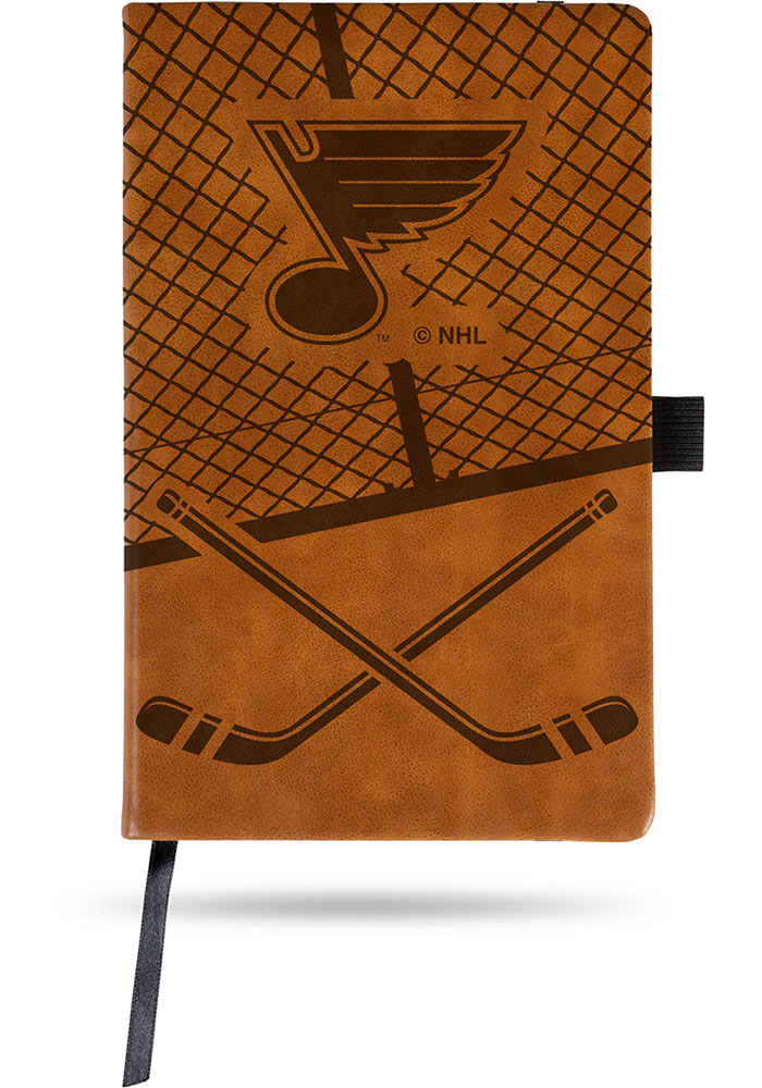St Louis Blues Laser Engraved Small Notepad - Image 1