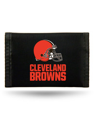 Cleveland Browns Nylon Trifold Wallet - Brown