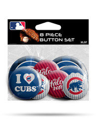 Chicago Cubs 8 Pack Button