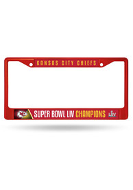 Kansas City Chiefs Super Bowl LIV Champions Chrome Color License Frame