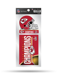 Kansas City Chiefs Super Bowl LIV Champions Double Up Auto Decal - Red