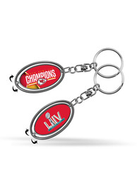 Kansas City Chiefs Super Bowl LIV Champions Metal Spinner Keychain