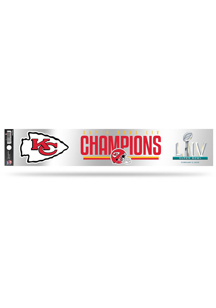 Kansas City Chiefs Super Bowl LIV Champions Tailgate Auto Decal - Red - Image 1