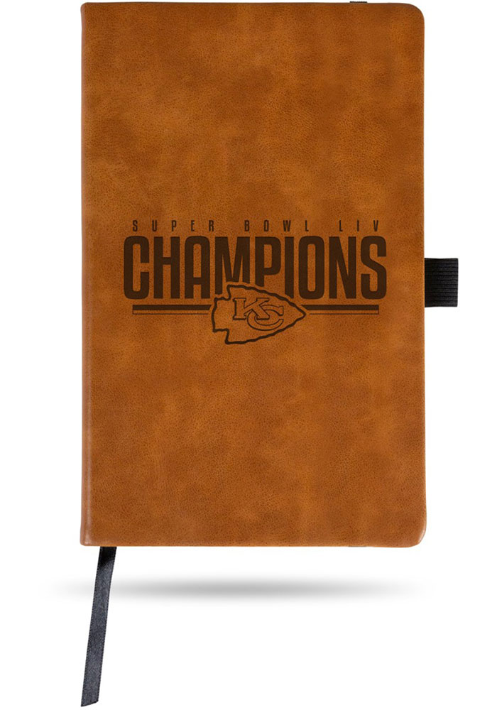 Kansas City Chiefs Super Bowl LIV Champions Laser Engraved Notepad - Image 1