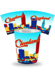 Cleveland Skyline Ceramic Shot Glass