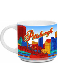 Pittsburgh Skyline White 14 oz Metro Mug