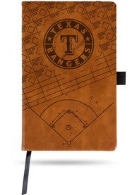 Texas Rangers Brown Laser Engraved Small Notebooks and Folders