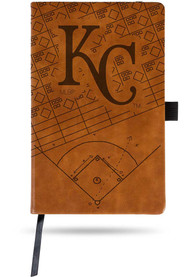 Kansas City Royals Brown Laser Engraved Small Notebooks and Folders