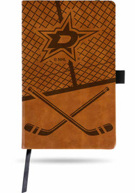 Dallas Stars Brown Laser Engraved Small Notebooks and Folders