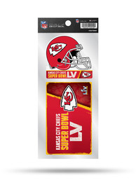 Kansas City Chiefs Super Bowl LV Bound Double Up Auto Decal - Red