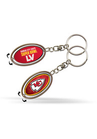 Kansas City Chiefs Super Bowl LV Bound Spinner Keychain