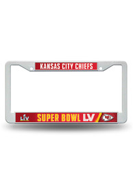 Kansas City Chiefs Super Bowl LV Bound Plastic License Frame