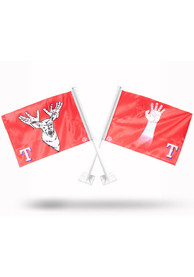 Texas Rangers Car Flag -