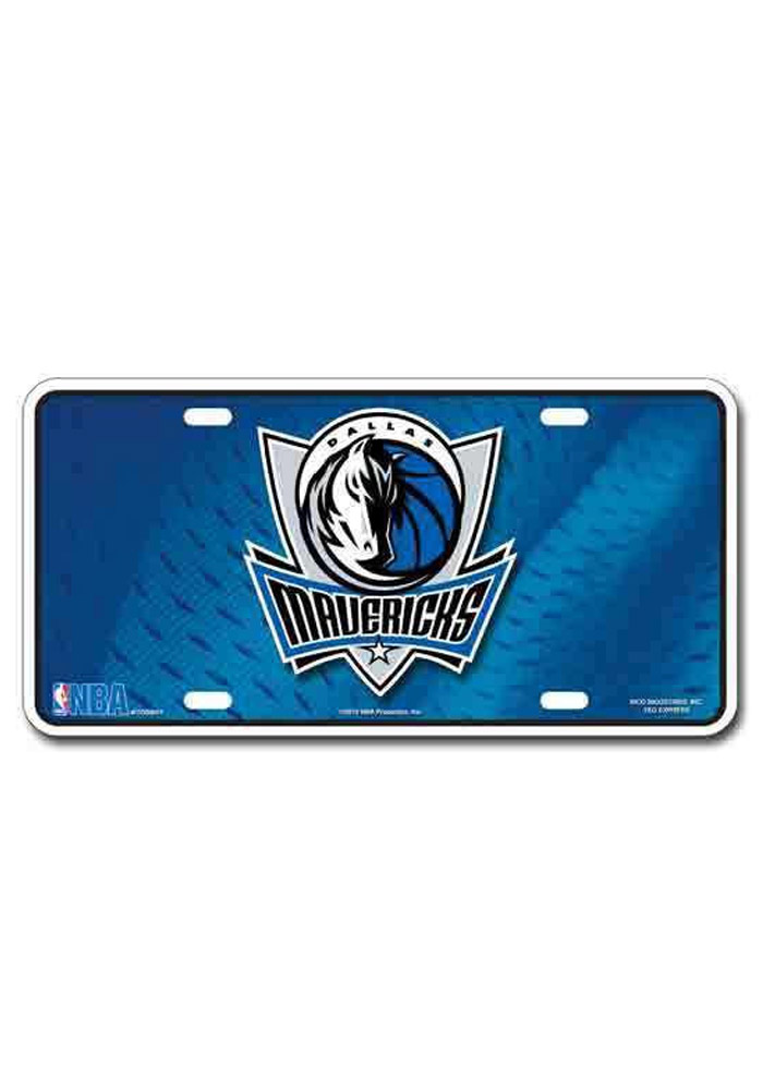 Dallas Mavericks Blue Logo Metal Car Accessory License Plate - Image 1