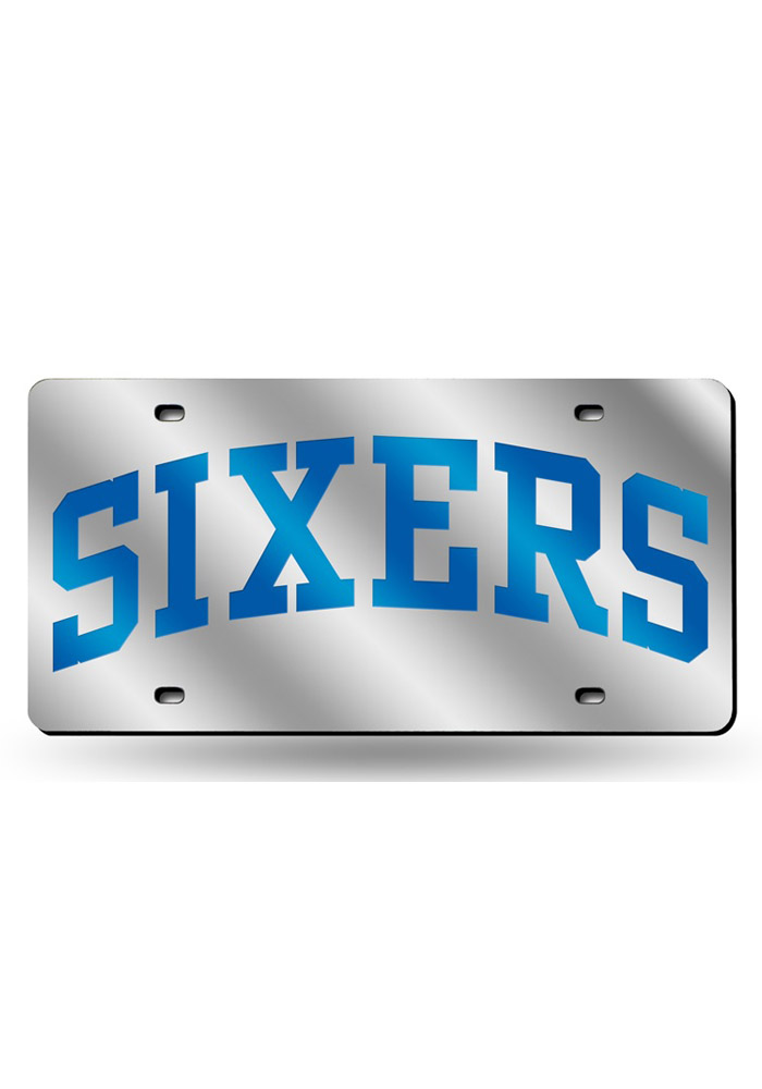 Philadelphia 76ers Silver Laser Nickname Car Accessory License Plate - Image 1