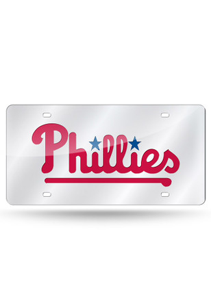 Philadelphia Phillies Team Logo Silver Car Accessory License Plate