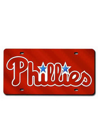 Philadelphia Phillies Red Laser Car Accessory License Plate