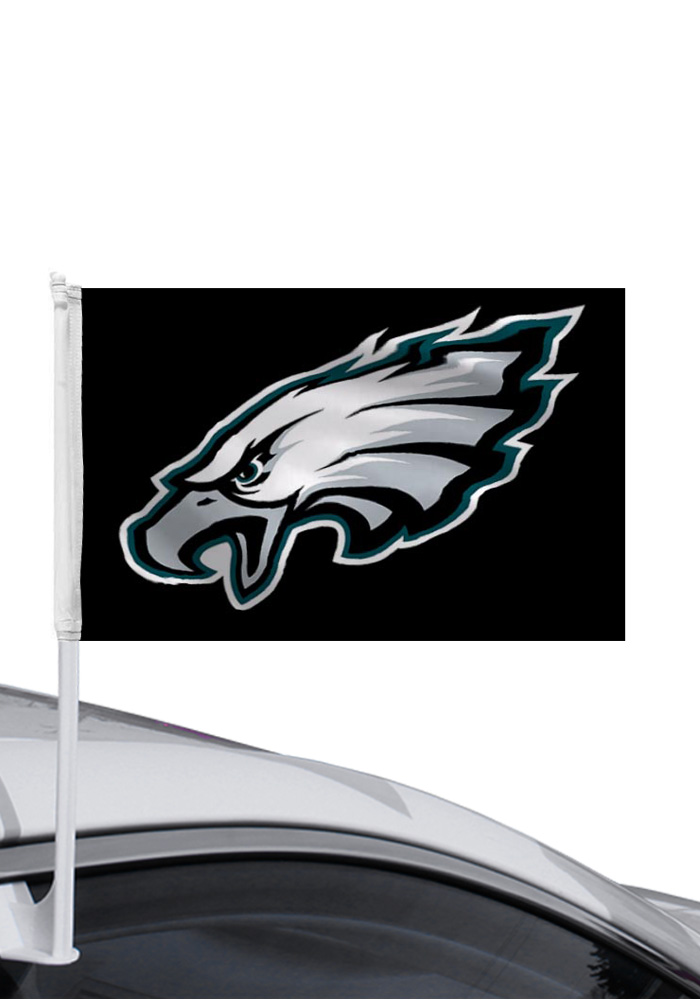Philadelphia Eagles Teal Car Flag - Black - Image 1