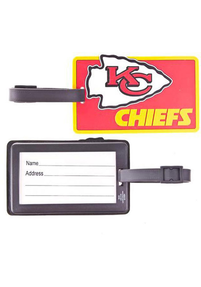 Kansas City Chiefs Red Rubber Luggage Tag - Image 1