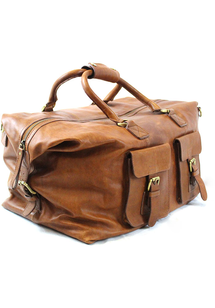 Brown Rawlings Leather Duffle Luggage - Image 3