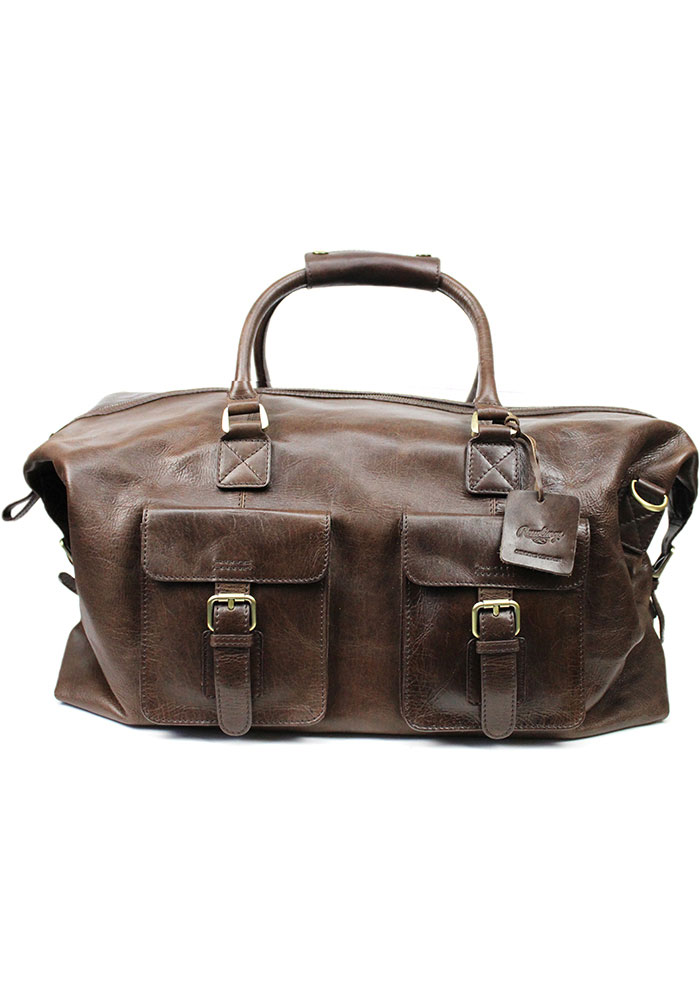 Brown Rawlings Leather Duffle Luggage - Image 1