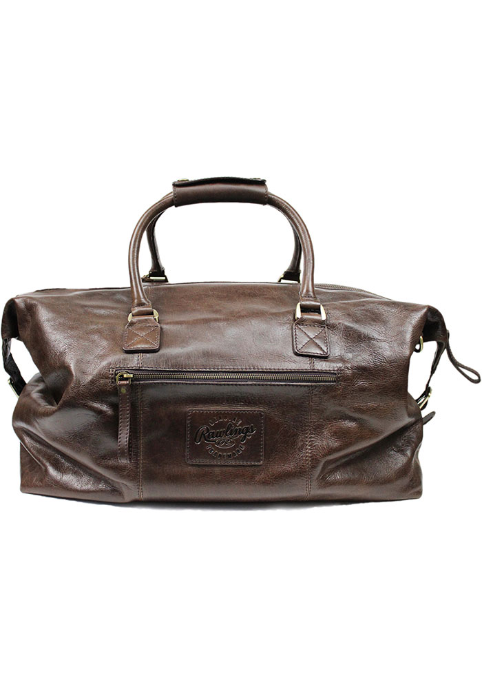Brown Rawlings Leather Duffle Luggage - Image 2