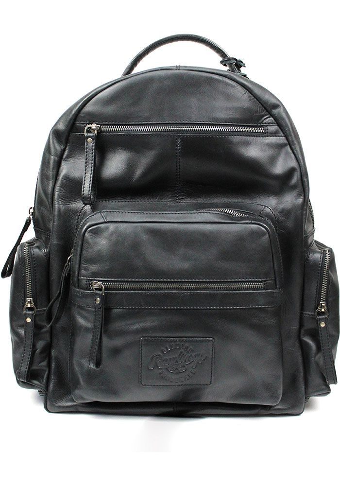 Black Rawlings Large Leather Backpack - Image 1