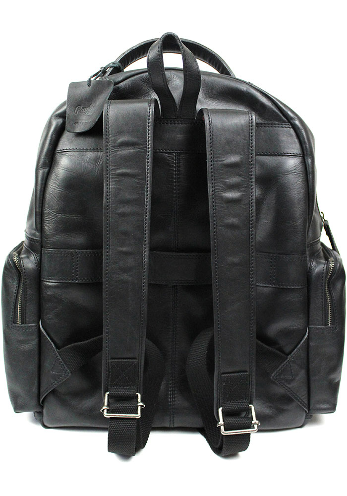 Black Rawlings Large Leather Backpack - Image 2