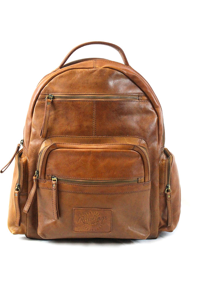 Brown Rawlings Large Leather Backpack - Image 1